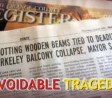 O.C. Register reports balcony collapse due to rotted wooden beams