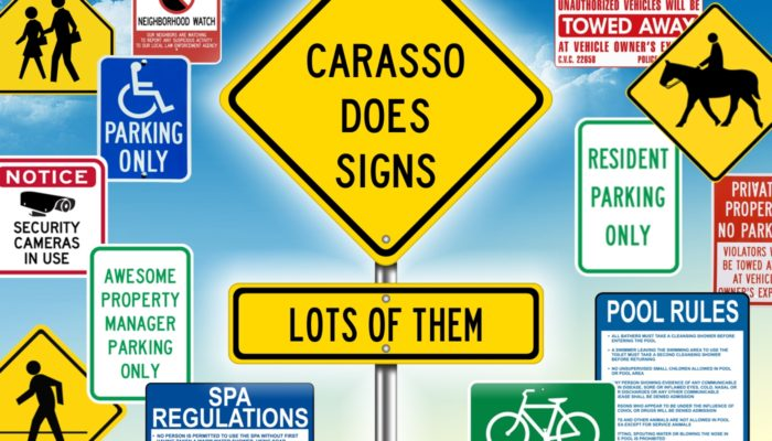 Carasso Does Signs, Lots of Them