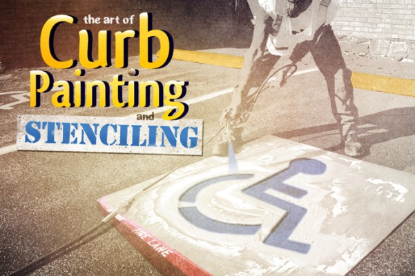 Curb Painting & Stenciling
